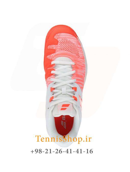 """تنیس زنانه بابولات مدل Propulse Blast رنگ قرمز سفید4 3 <p style=""""text-align: justify;""""><span style=""""color: #000000;""""><span style=""""color: #ff6600;""""><a style=""""color: #ff6600;"""" href=""""https://tennisshop.ir/product-category/%D8%AE%D8%B1%DB%8C%D8%AF-%DA%A9%D9%81%D8%B4-%D8%AA%D9%86%DB%8C%D8%B3/%D8%A8%D8%B1%D9%86%D8%AF-%DA%A9%D9%81%D8%B4-%D8%AA%D9%86%DB%8C%D8%B3/%DA%A9%D9%81%D8%B4-%D8%AA%D9%86%DB%8C%D8%B3-%D8%A8%D8%A7%D8%A8%D9%88%D9%84%D8%A7%D8%AA/""""><strong>کفش تنیس بابولات</strong></a></span> <span style=""""color: #ff6600;""""><strong><a style=""""color: #ff6600;"""" href=""""https://tennisshop.ir/series/%d8%a8%d8%a7%d8%a8%d9%88%d9%84%d8%a7%d8%aa-propulse-blast/"""">سری Propulse Blast</a></strong></span> رنگ قرمز سفید محصول شرکت Babolat می باشد. این کفش تنیس از مواد اولیه بسیار با کیفیتی ساخته شده که عمر و دوام این کفش را به اندازه قابل توجهی بهبود بخشیده است. مناسب برای بازیکنانی که حرکات پای سریع مانند استارت های انفجاری و استپ های ناگهانی دارند. این کفش مناسب همه زمین های تنیس است همچنین دارای تکنولوژی ویژه ای برای ساپورت قسمت کناری پا می باشد و از پا در مقابل آسیب های وارده تا حد زیادی محافظت میکند.</span></p>"""