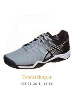 کفش تنیس مردانه اسیکسسری GEL RESOLUTION 7 مدل CLAY رنگ مشکی خاکستری