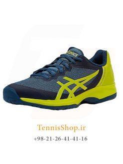 کفش تنیس مردانه اسیکسسری GEL COURT مدل SPEED رنگ آبی سبز