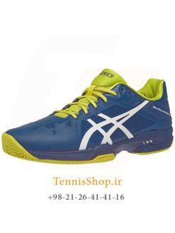 کفش تنیس مردانه اسیکس سری Solution Speed مدل 3 CLAY رنگ آبی سبز