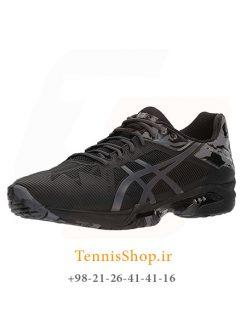 کفش تنیس مردانه اسیکس سری Solution Speed مدل 3 L.E رنگ مشکی خاکستری