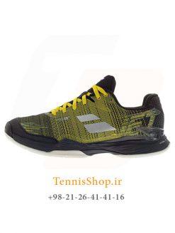 کفش تنیس مردانه بابولات مدل Jet Mach II رنگ زرد مشکی