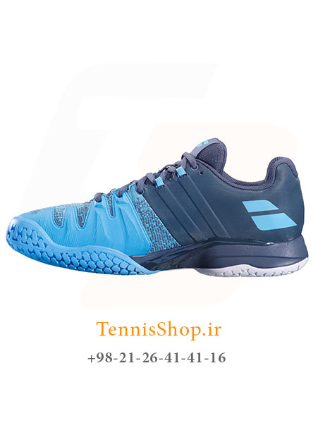 کفش تنیس مردانه بابولات مدل Propulse Blast رنگ خاکستری آبی