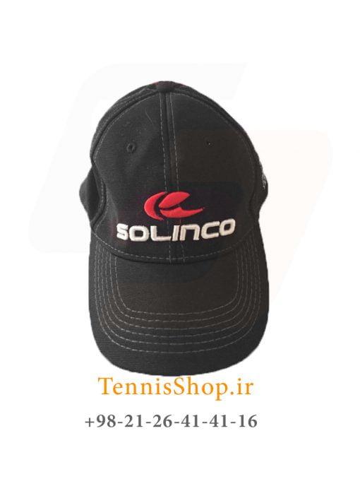 کلاه تنیس سولینکو رنگ مشکی قرمز