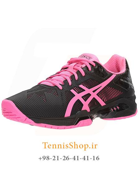 کفش تنیس زنانه اسیکس سری Solution Speed رنگ مشکی صورتی