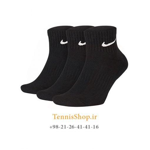 جوراب تنیس نایک سری Everyday Cushion Ankle مدل 3 عددی رنگ مشکی