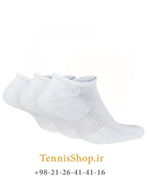 جوراب تنیس نایک سری NO SHOW مدل 3 جفتی رنگ سفید