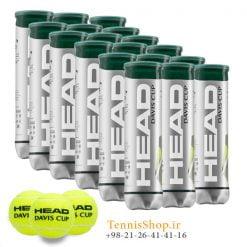کارتن 18 عددی قوطی 4تایی توپ تنیس هد سری Davis Cup