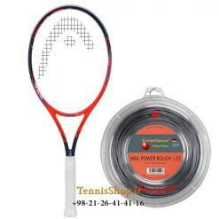 راکت تنیس هد سری Radical مدل Touch PRO به همراه زه رول تنیس کریشبام سری Max Power Rough