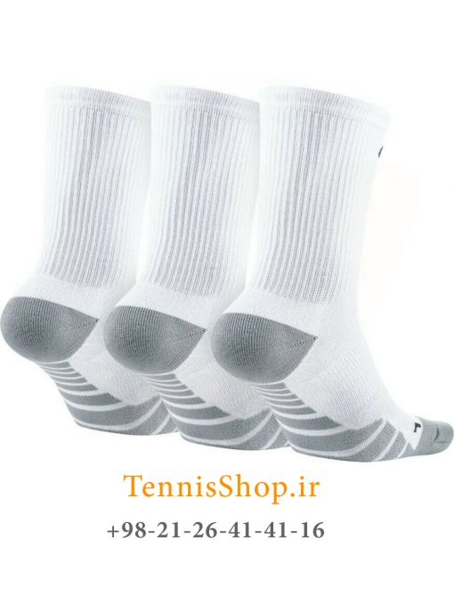 جوراب تنیس نایک سری DRY CUSHION CREW مدل 3 عددی رنگ سفید