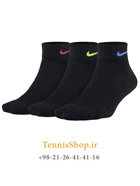 جوراب تنیس نایکسری Everyday Cushion Ankle مدل 3 عددی رنگ مشکی