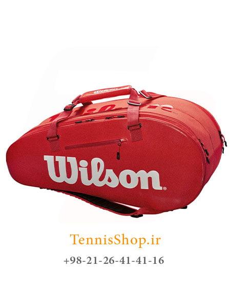 ساک تنیس ویلسون سری Super Tour 2 مدل 9 راکته رنگ قرمز