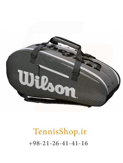 ساک تنیس ویلسون سری Super Tour 2 مدل 9 راکته رنگ خاکستری