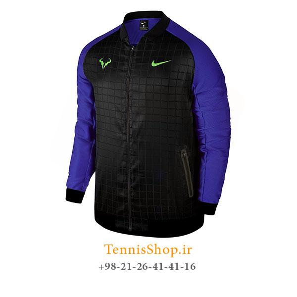 سوییشرت تنیس نایک سری Court Rafa Nadal رنگ آبی مشکی