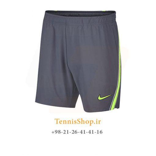 شلوارک تنیس نایک سری Court Flex Rafa Nadal Ace رنگ خاکستری
