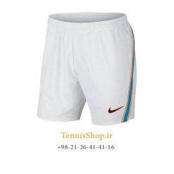 شلوارک تنیس نایک سری Court Flex Rafa Nadal Ace رنگ سفید آبی