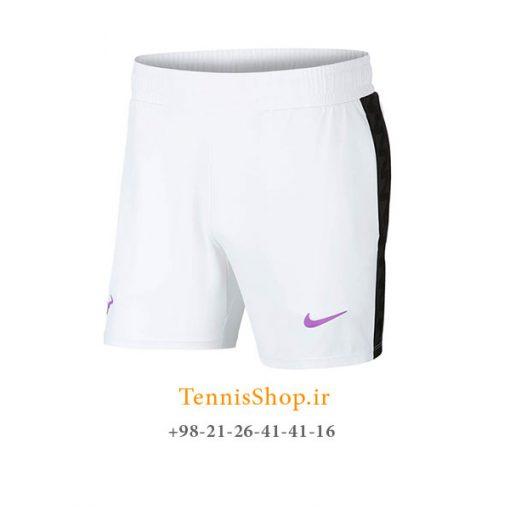 شلوارک تنیس نایک سری Dri-Fit Rafa Nadal رنگ سفید
