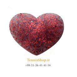 ضربه گیر تکی راکت تنیس ویلسون سری Bowl O Fun مدل Glitter Hearts قرمز