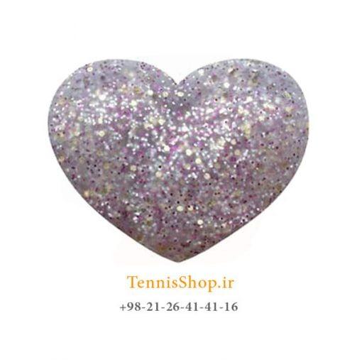 ضربه گیر تکی راکت تنیس ویلسون سری Bowl O Fun مدل Glitter Hearts نقره ای