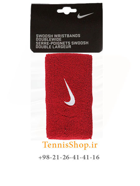 مچ بند تنیس نایک سری 5 اینچ مدل 2 عددی رنگ قرمز