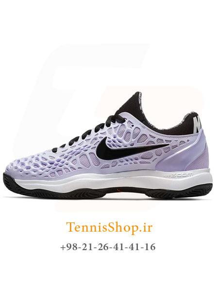 کفش تنیس زنانه نایکسری Cage 3 تکنولوژی ZOOM رنگ یاسی