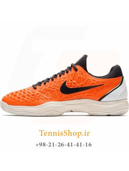 کفش تنیس مردانه نایک سری Cage 3 تکنولوژی Air Zoom مدل Clay
