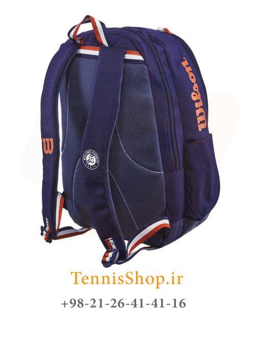 کوله پشتی تنیس ویلسون سری ROLAND GARROS رنگ سرمه ای