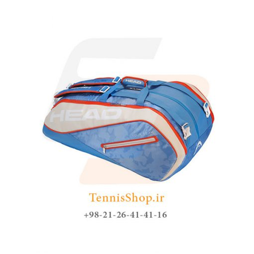 ساک تنیس هد سری Tour Team Monstercombi مدل 12 راکته رنگ آبی کرم