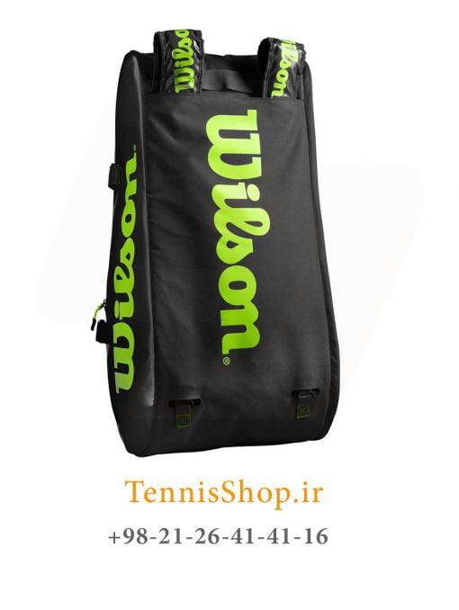 ساک تنیس ویلسون سری Super Tour 3 مدل 15 راکته رنگ مشکی