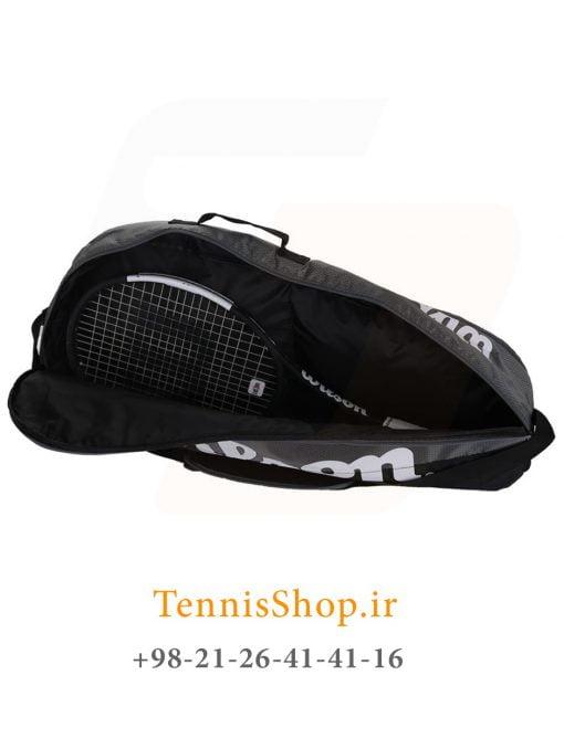 ساک تنیس ویلسون سری TEAM 1 مدل 3 راکته رنگ خاکستری مشکی