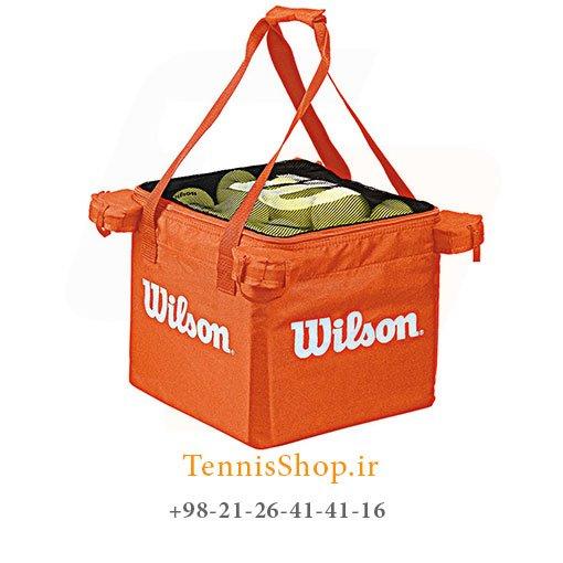 سبد توپ تنیس ویلسون Teaching Cart رنگ نارنجی