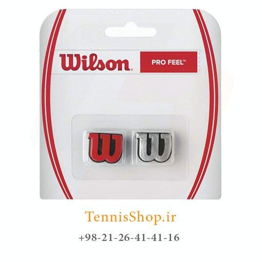 ضربه گیر راکت تنیس ویلسون 2 عددی مدل Pro Feel رنگ قرمز نقره ای