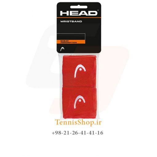 مچ بند تنیس هد سری 2.5 اینچ مدل 2 عددی رنگ قرمز