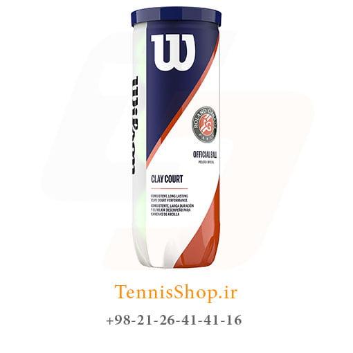 قوطی سه تایی توپ تنیس ویلسون سری Roland Garros مدل clay
