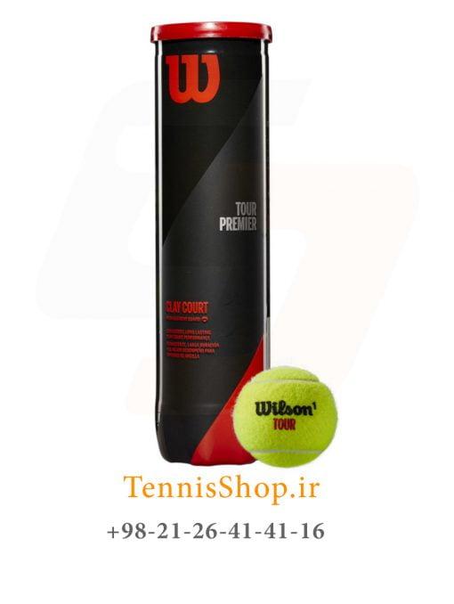 قوطی چهار تایی توپ تنیس ویلسون سری Tour Premier