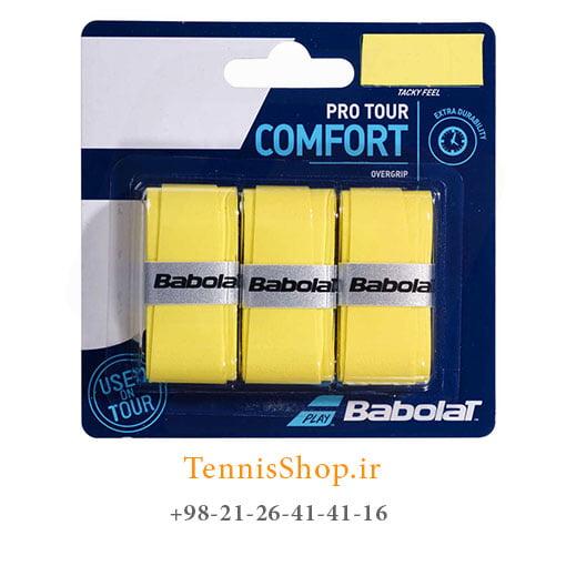 اورگریپ راکت تنیس بابولات سری Pro Tour Comfort مدل 3 عددی زرد