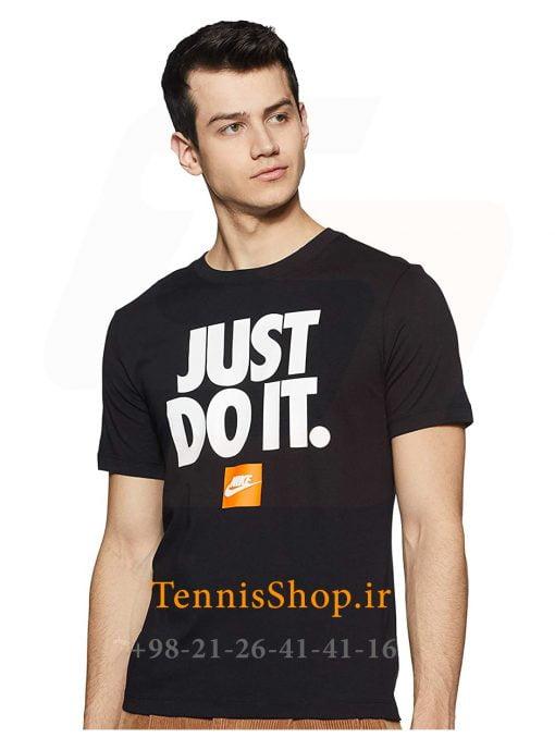 تیشرت تنیس مردانه نایک سری NSW مدل JUST DO IT رنگ مشکی