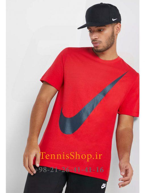 تیشرت تنیس مردانه نایک سری NSW مدل Swoosh رنگ قرمز