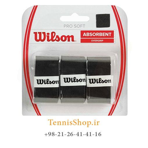 اورگریپ راکت تنیس ویلسون سری Pro Soft مدل 3 عددی مشکی