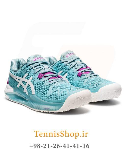 کفش تنیس اسیکس سری 8 GEL RESOLUTION رنگ آبی