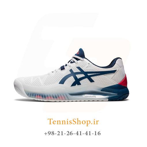 کفش تنیس اسیکس سری 8 GEL RESOLUTION رنگ سفید