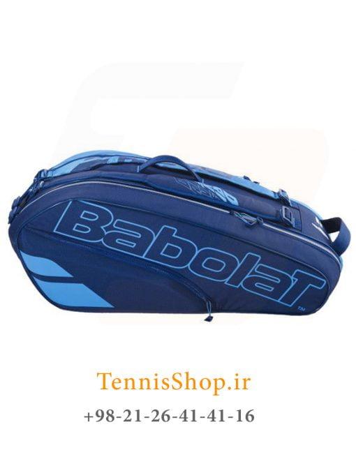 ساک تنیس بابولات سری Pure Drive مدل 6 راکته رنگ آبی