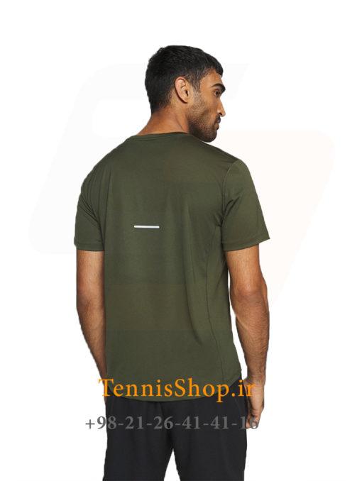 تیشرت تنیس مردانه اسیکس مدل FUTURE CAMO رنگ سبز