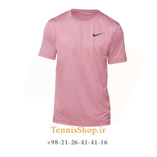 تیشرت تنیس نایک مدل Dri-Fit Miler رنگ گلبهی