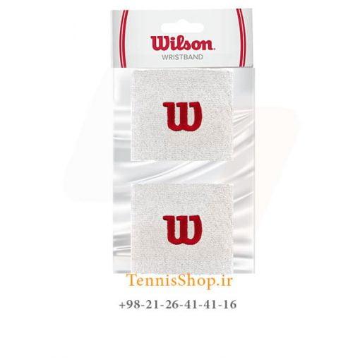 مچ بند تنیس ویلسون سری Short مدل 2 عددی رنگ سفید