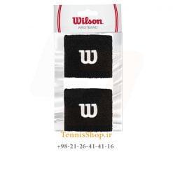 مچ بند تنیس ویلسون سری Short مدل 2 عددی رنگ مشکی